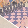An unusual chess set