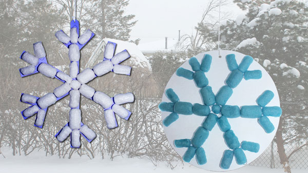 Two snowflakes with Magic Nuudles