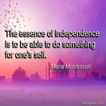The essence of independence