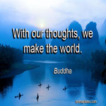 With our thoughts