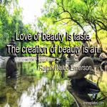 Love of beauty