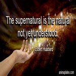 The supernatural is