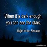 When it is dark enough
