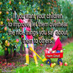If you want your children to improve