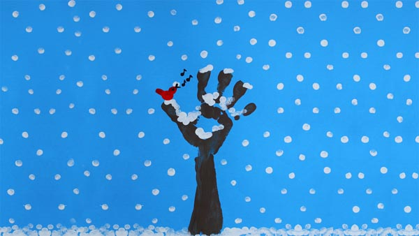 winter tree finger painting finger paint winter tree free craft tutorial animaplates 5742