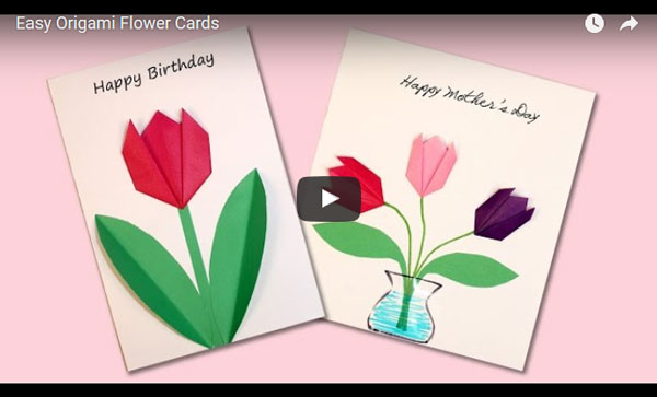 Simple Origami Tulip Free Craft Tutorial Animaplates