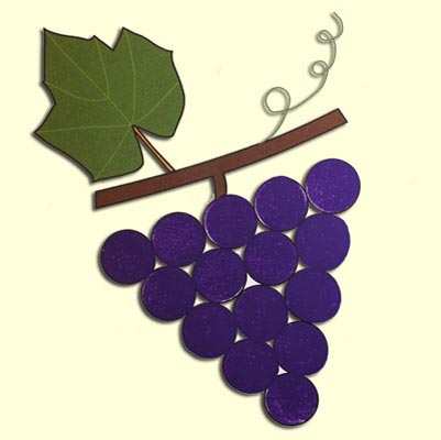 Painting grapes craft tutorial animaplates for Buy grape vines for crafts
