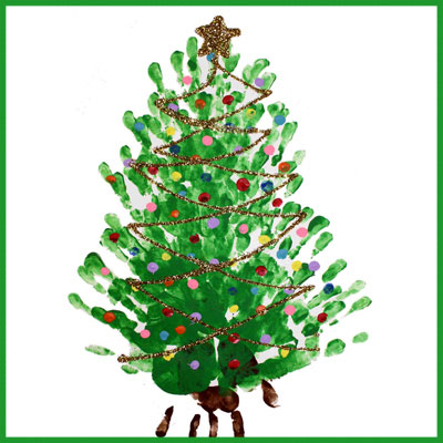 finger paint christmas tree free craft tutorial animaplates - How To Paint A Christmas Tree