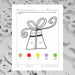 Gift Box (math and colouring)