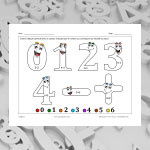 Digits 1 (math and colouring)