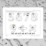Digits 2 (math and colouring)