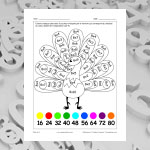 Table of 8 (multiplication and colouring)