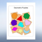 Shape Puzzle Templates