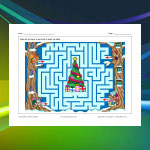 Animal Christmas Maze