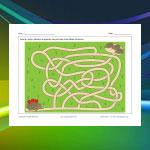 Hedgehog Family Maze