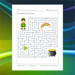 Saint Patrick's Day Maze