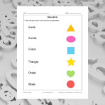 Name the geometric shapes
