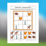 Forest Animals Sudoku 3