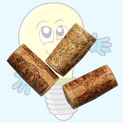 How to easily cut wine corks