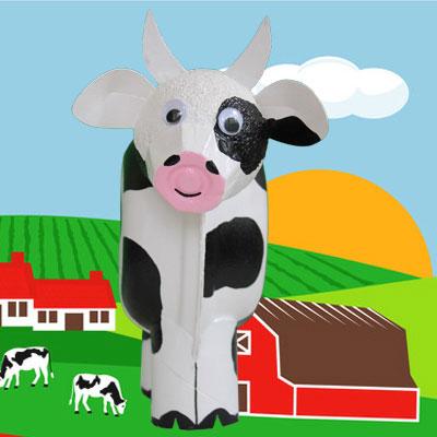 3-D Cow