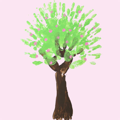 Finger paint: Spring Tree