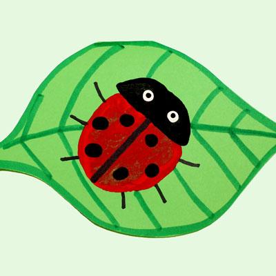 Card with a Ladybug