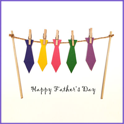Card with Ties for Dad