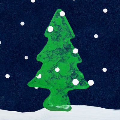 Snowy Christmas Tree Card