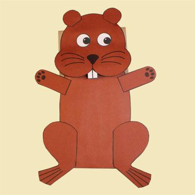 Paper Bag Beaver Puppet