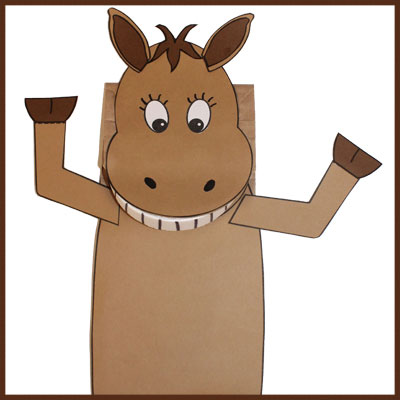 Paper Bag Horse Puppet