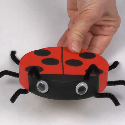 Ladybug made with a Camembert box
