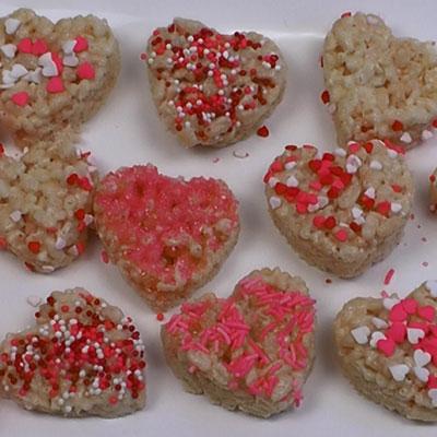 Rice Krispies Hearts