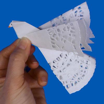 Paper Doily Dove