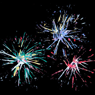 Four ways to paint fireworks