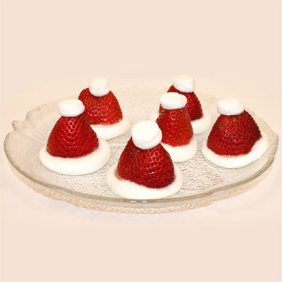 Strawberry Santa Hats Recipe