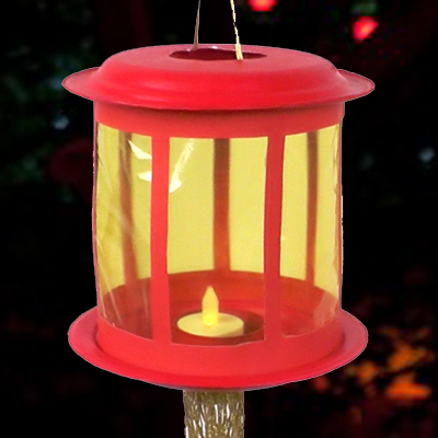 Chinese Lantern with paper plates