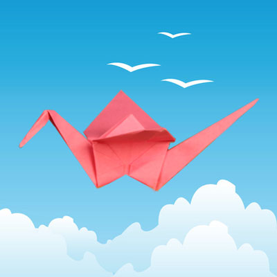 Traditional origami crane