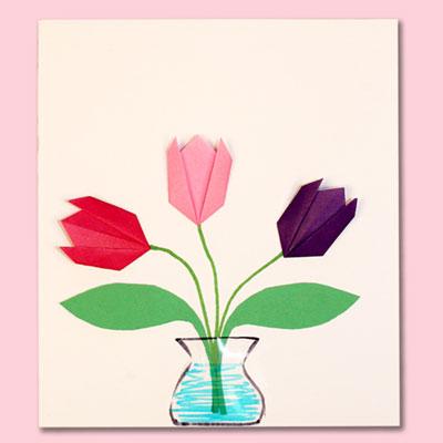 Simple Origami Tulip
