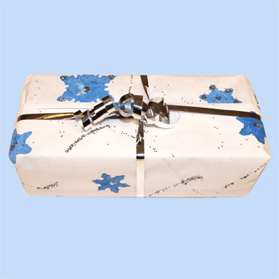 Gift Wrap with Snowflakes
