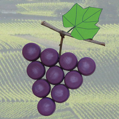 Plastic Bottle Cap Grapes