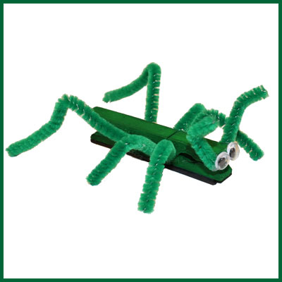 Grasshopper made with a Clothespin