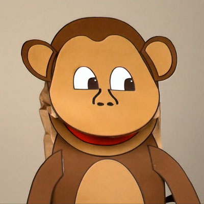 Paper Bag Monkey Puppet