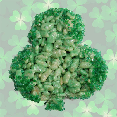 Rice Krispies Shamrocks